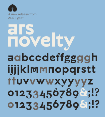 A new free font – ARS Novelty